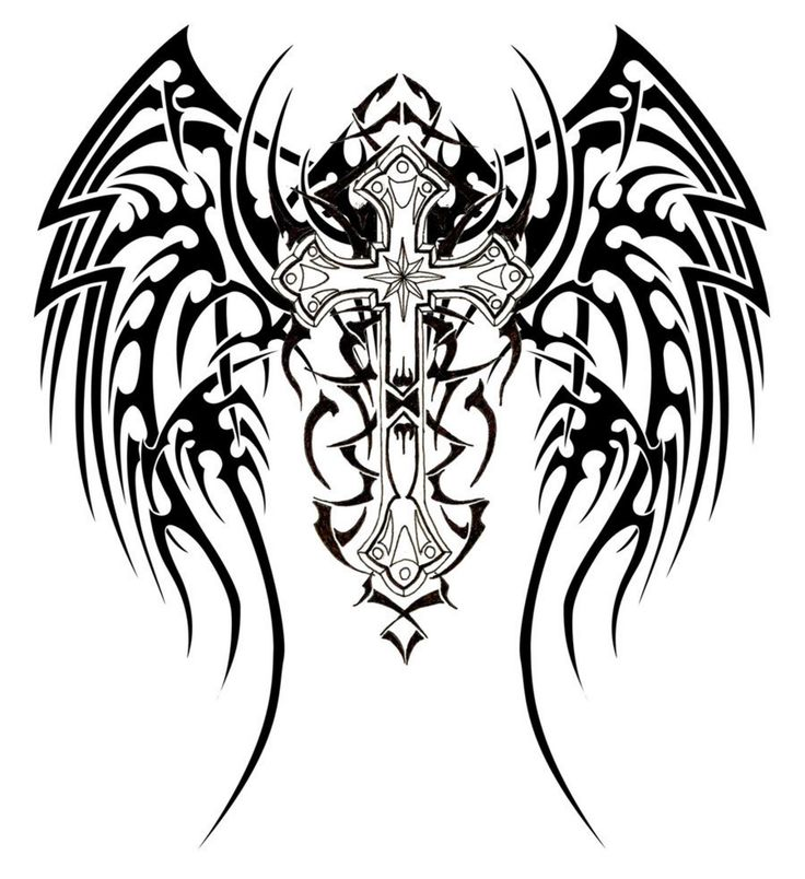 736x804 Wings Clipart Tribal Cross