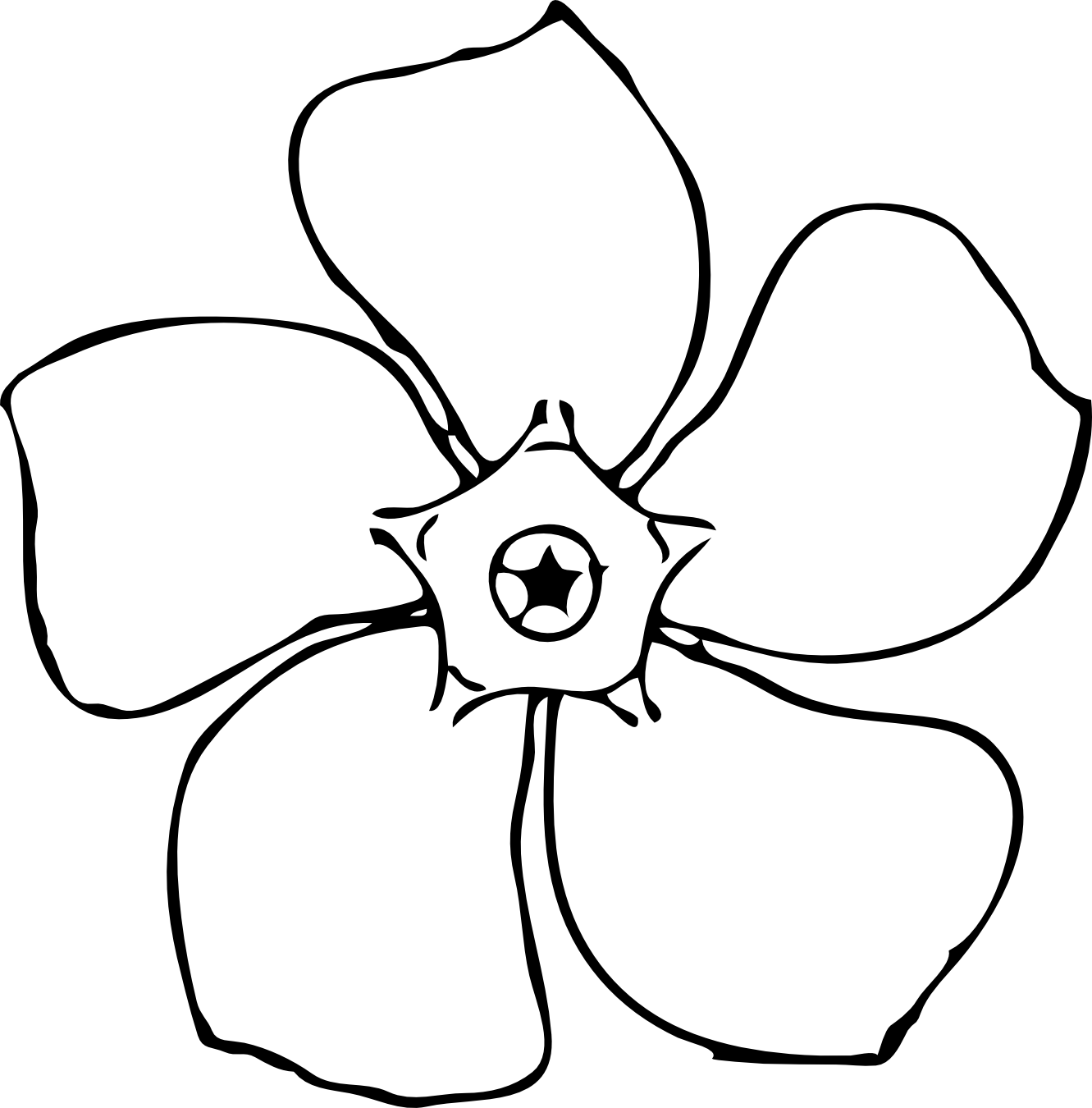 1331x1350 Daffodil Clipart Line Drawing