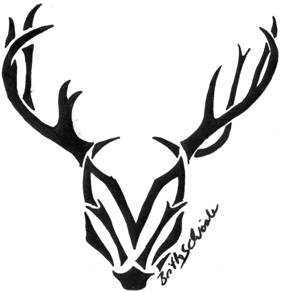900x936 Tribal Deer Skull Clipart