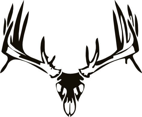 472x391 Tribal Whitetail Deer Deer Skull Wall Decal 2 Tattoo Board