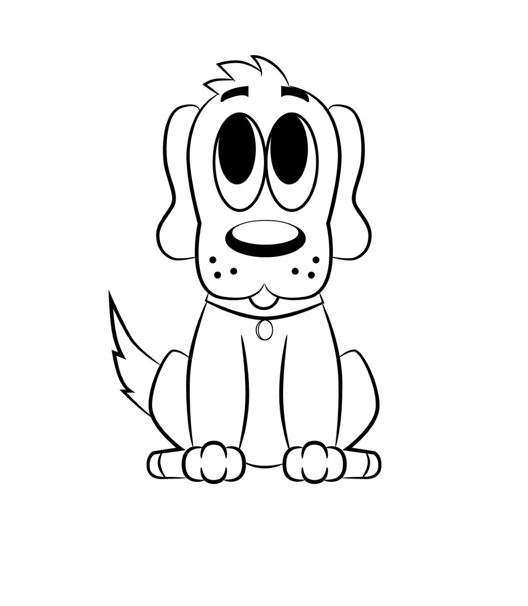 1080x1239 Cartoon Drawings Of Dogs