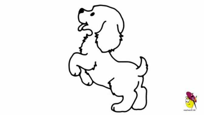 671x377 Coloring Pages Mesmerizing Easy Drawings Of Dogs Circles Puppy