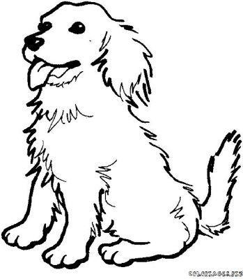 349x400 Dog Line Drawings Clip Art