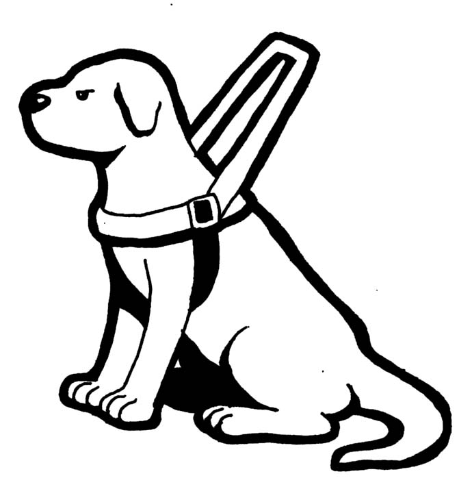 690x714 Guide Dog Clipart Kid Coloring Page In