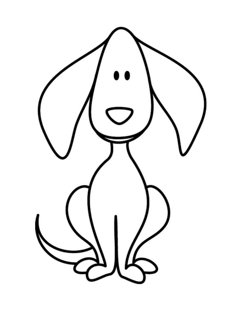 791x1024 Simple Drawing Of Dog Free Download Dog Drawings Simple Dog Sketch