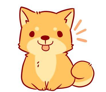 370x320 Best Cute Dog Drawing Ideas Dog Illustration