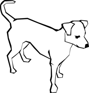 288x299 Dog Outline Animal Clip Art
