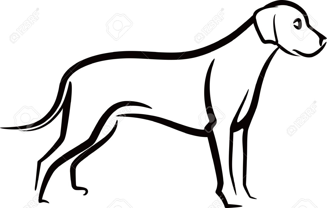 1300x825 Outline Drawing Of A Dog Outline Drawings Of Dogs Dog Outline