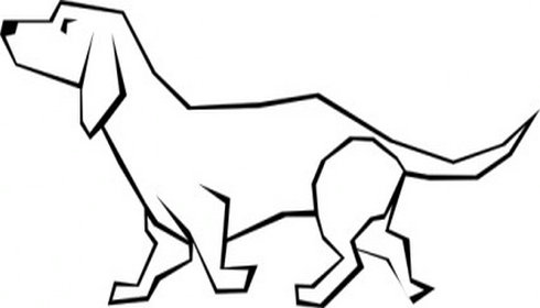 490x280 Dogs Drawings Simple