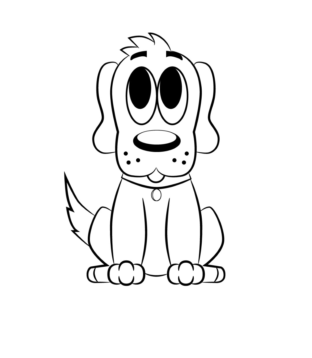 1080x1239 Cartoon Drawings Of Dogs How To Draw A Cartoon Dog