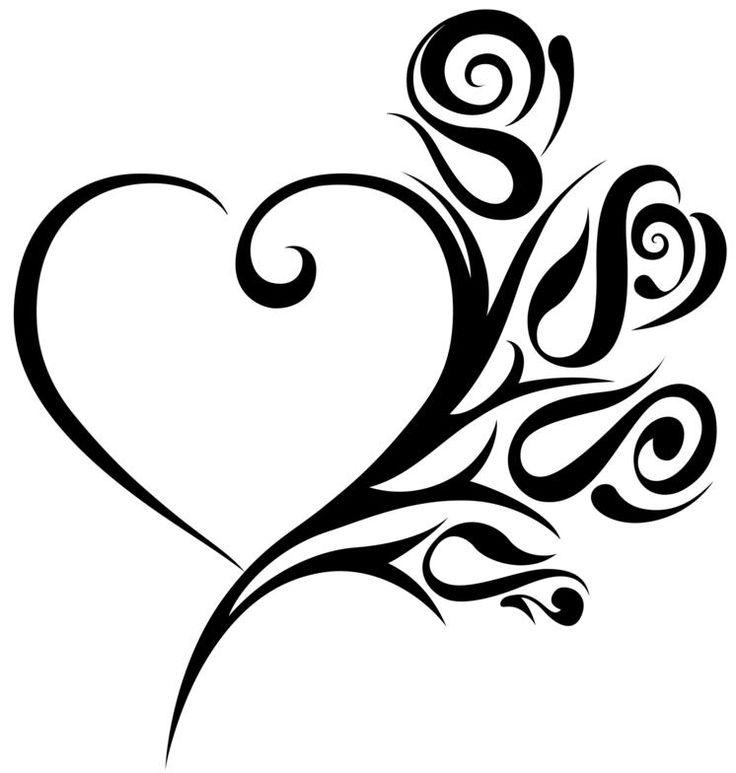 736x773 Download Heart Tattoo To Draw