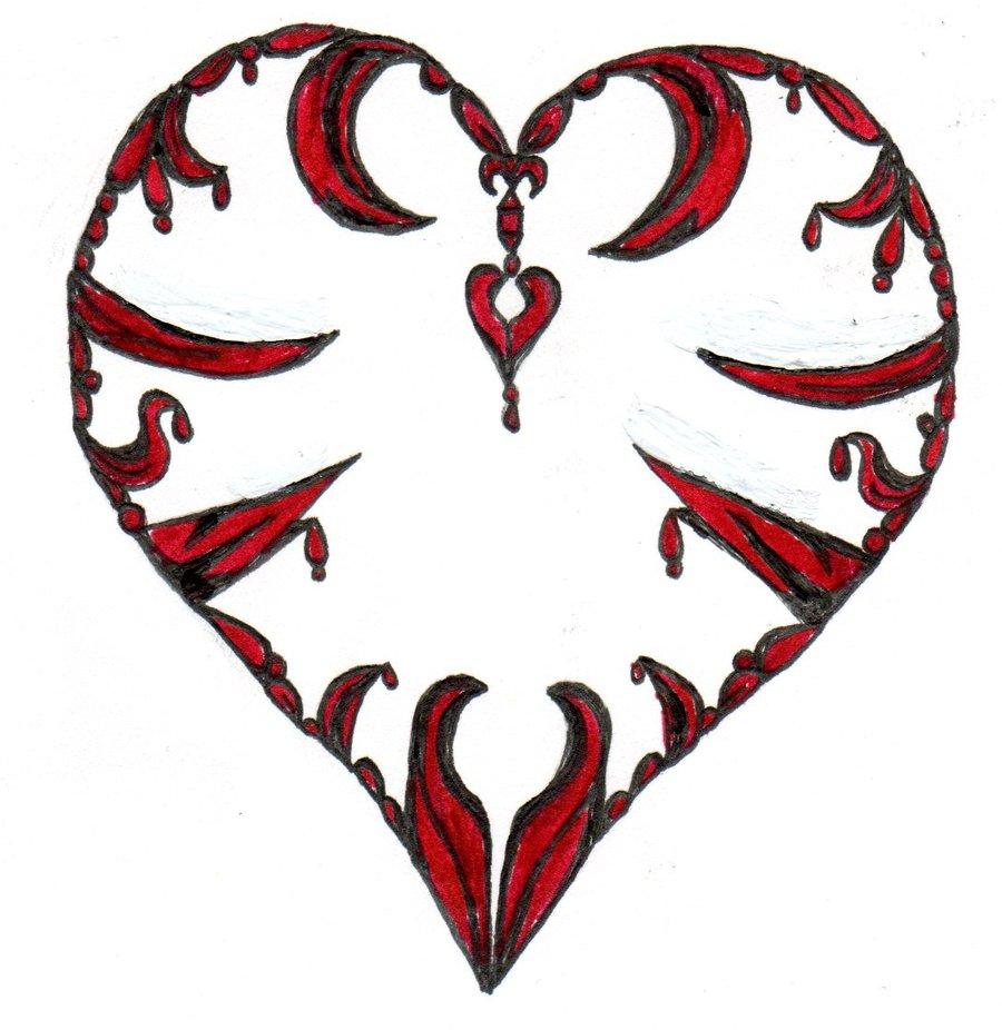 900x926 Drawn Heart Emo