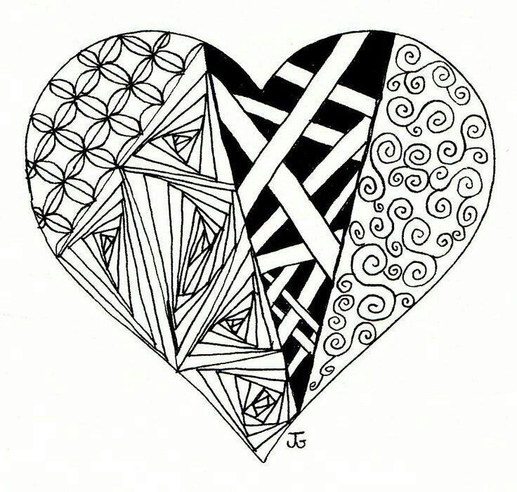 Drawings Of Hearts With Ribbons