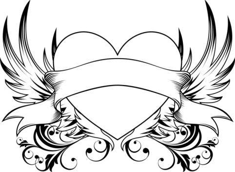 482x352 Image Gallery Hearts With Ribbons