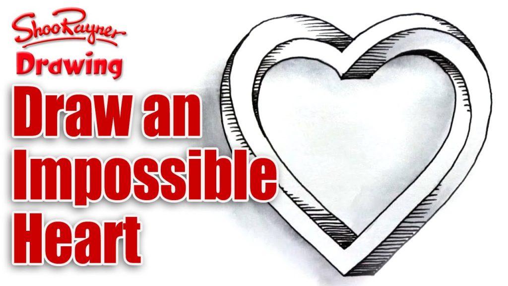 1024x576 Valentine ~ Astonishing Valentine Heart Drawings Photo Ideas Stock
