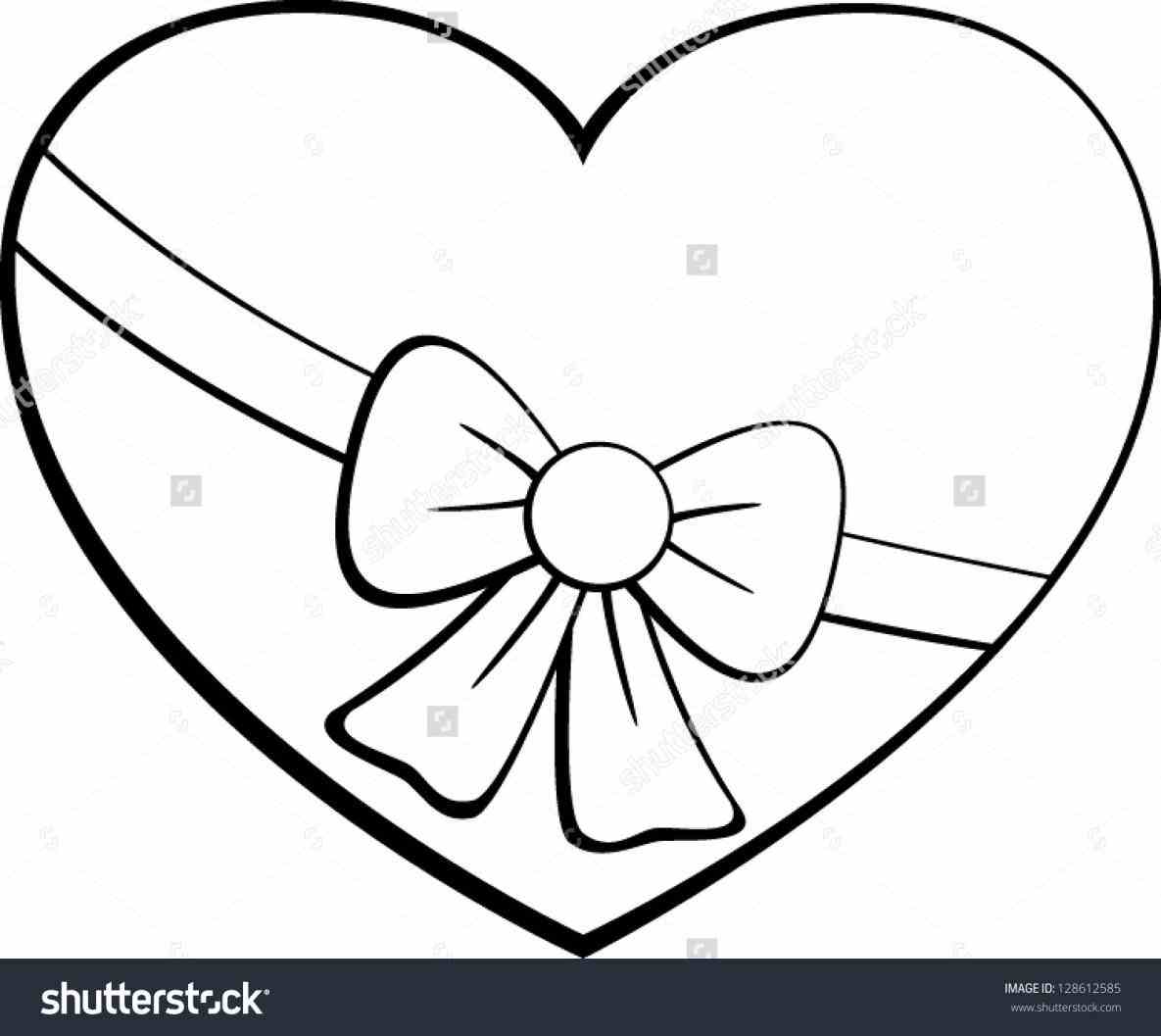 1185x1057 Hearts With Ribbons Drawings