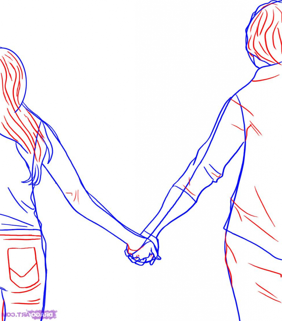 Drawings Of Holding Hands | Free download best Drawings Of Holding
