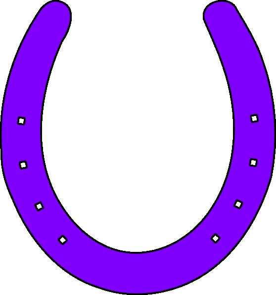 558x595 Horse Shoe Purple Clip Art