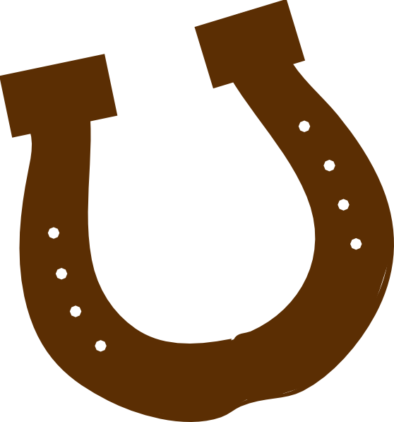 558x597 Brown Rodeo Horseshoe Clip Art