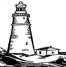 220x222 Free Lighthouse Drawing Clipart
