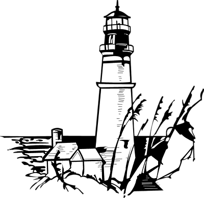 400x388 Lighthouse Clipart Line Drawing