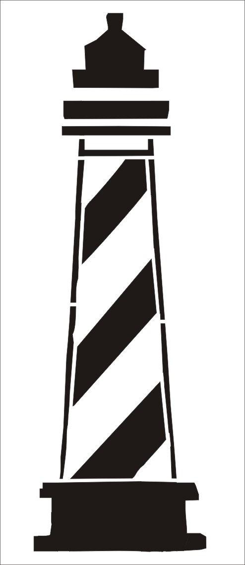 494x1138 Stencils Lighthouse