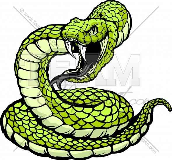 590x551 Black Mamba Clipart Coiled Rattlesnake