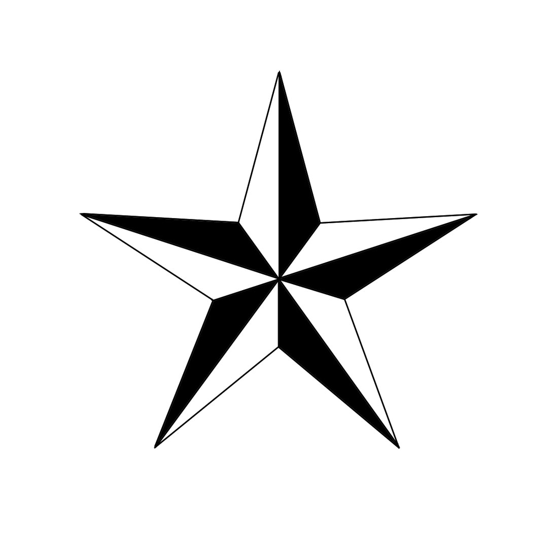 1100x1100 Drawings Of A Star How To Draw A Nautical Star 6 Steps (With
