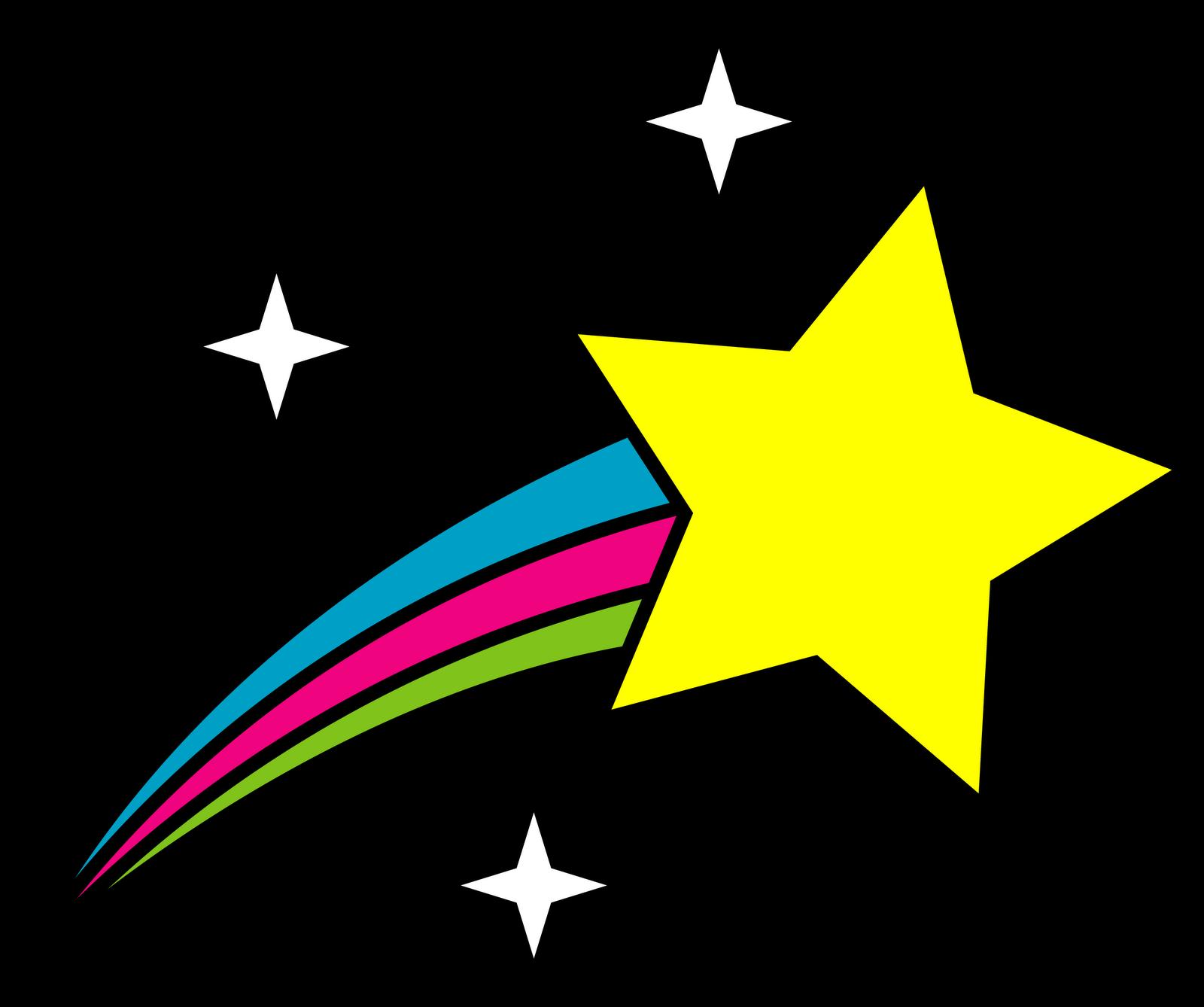 1600x1338 Drawn Falling Stars Drawing