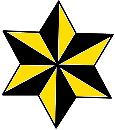 396x447 How To Draw 6 Sided Nautical Stars With Easy Step By Step Drawing