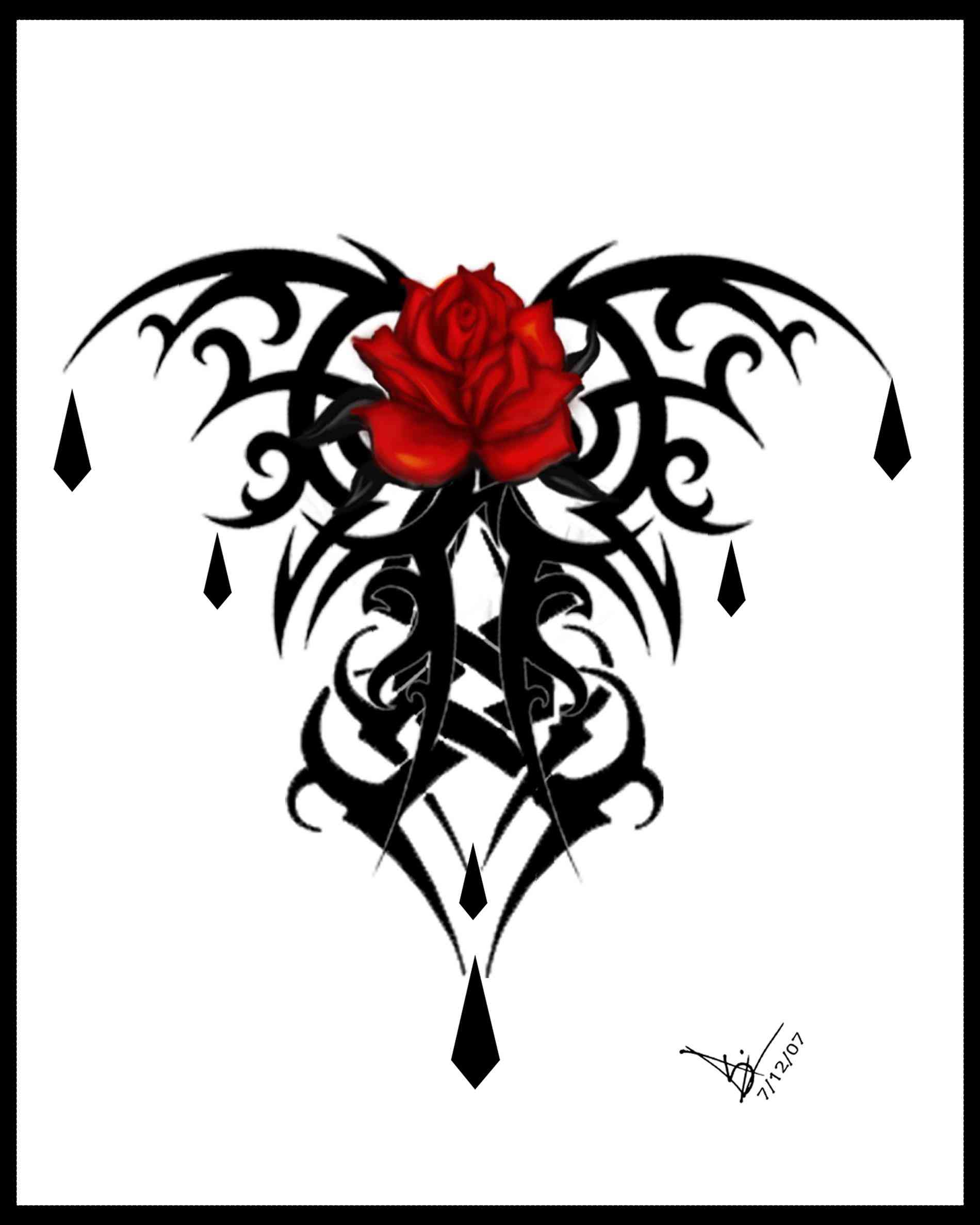 1900x2375 Tattoos Butterfly Hearts And Roses And Stars Tattoos Vines Art