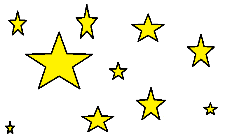 819x460 Assorted Stars Drawing