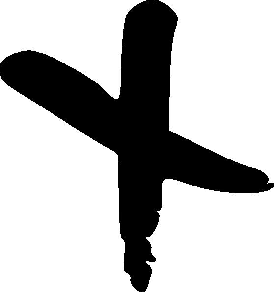 558x595 Drawn Cross Black And White