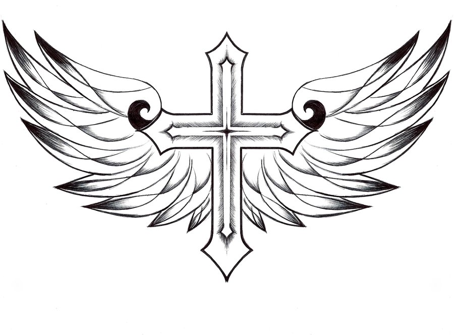 900x664 Drawn Cross Coloring Page