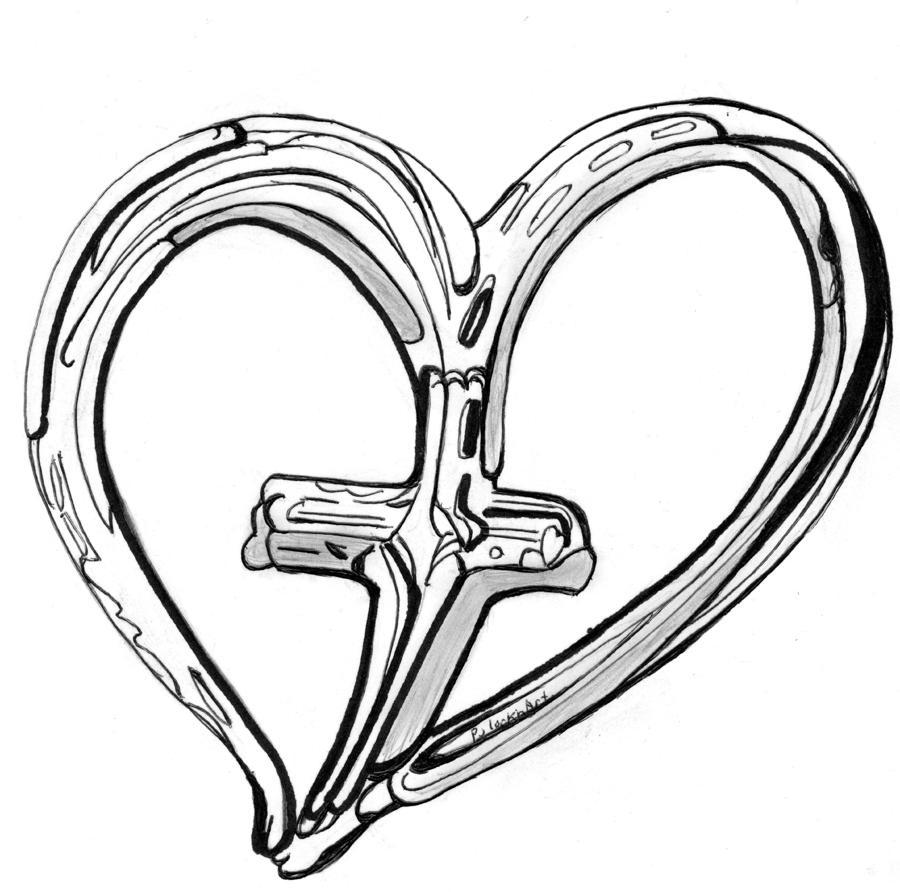 900x892 Drawn Hearts Crosses