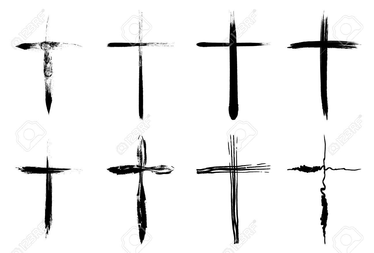 1300x881 Hand Drawn Crosses Collection Isolated Over White Background