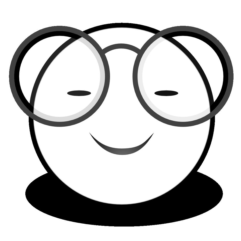 999x999 Smiley Face Clip Art Black White Cliparts