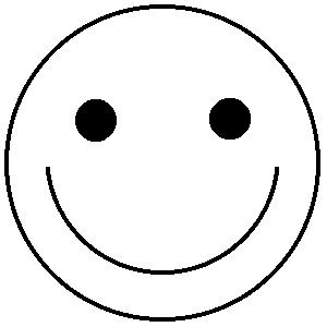 300x300 Smiley Heart Black Clipart