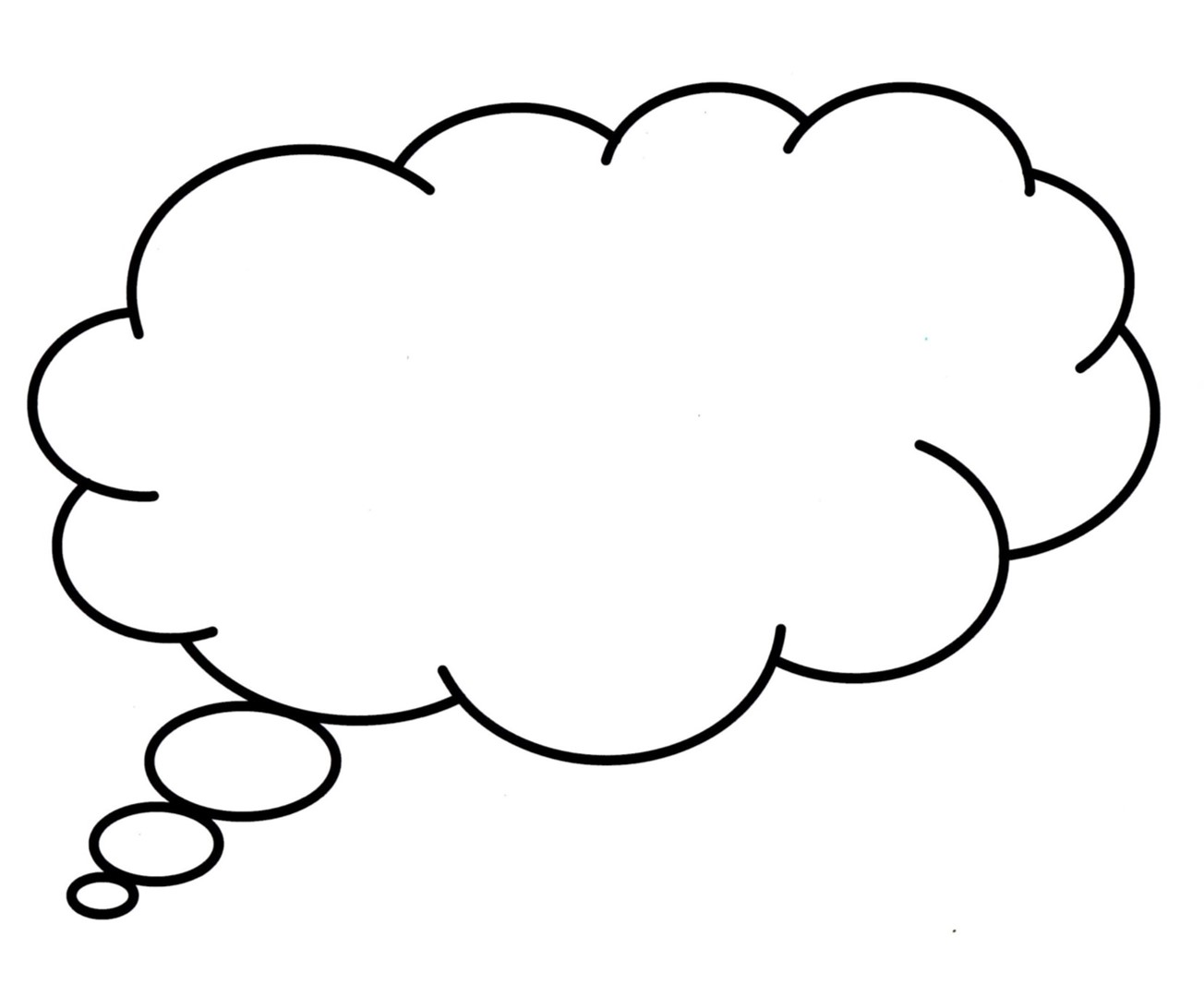 1304x1079 Thought Bubble Speech Clip Art