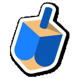 256x256 Dreidel Icon Swarm App Sticker Iconset Sonya