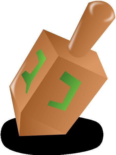 450x599 Hanukkah Dreidel Clip Art