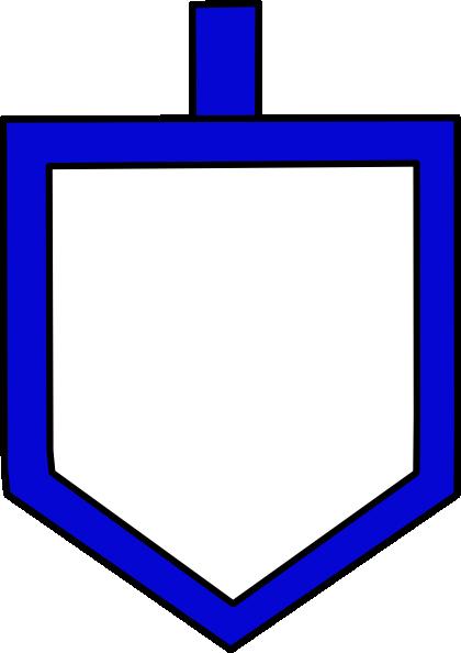 420x594 Blue Dreidel Shape Clip Art