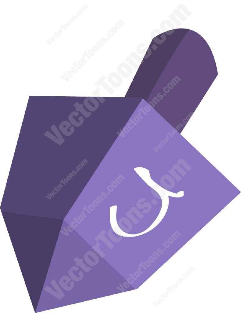 789x1024 Purple Dreidel Cartoon Clipart