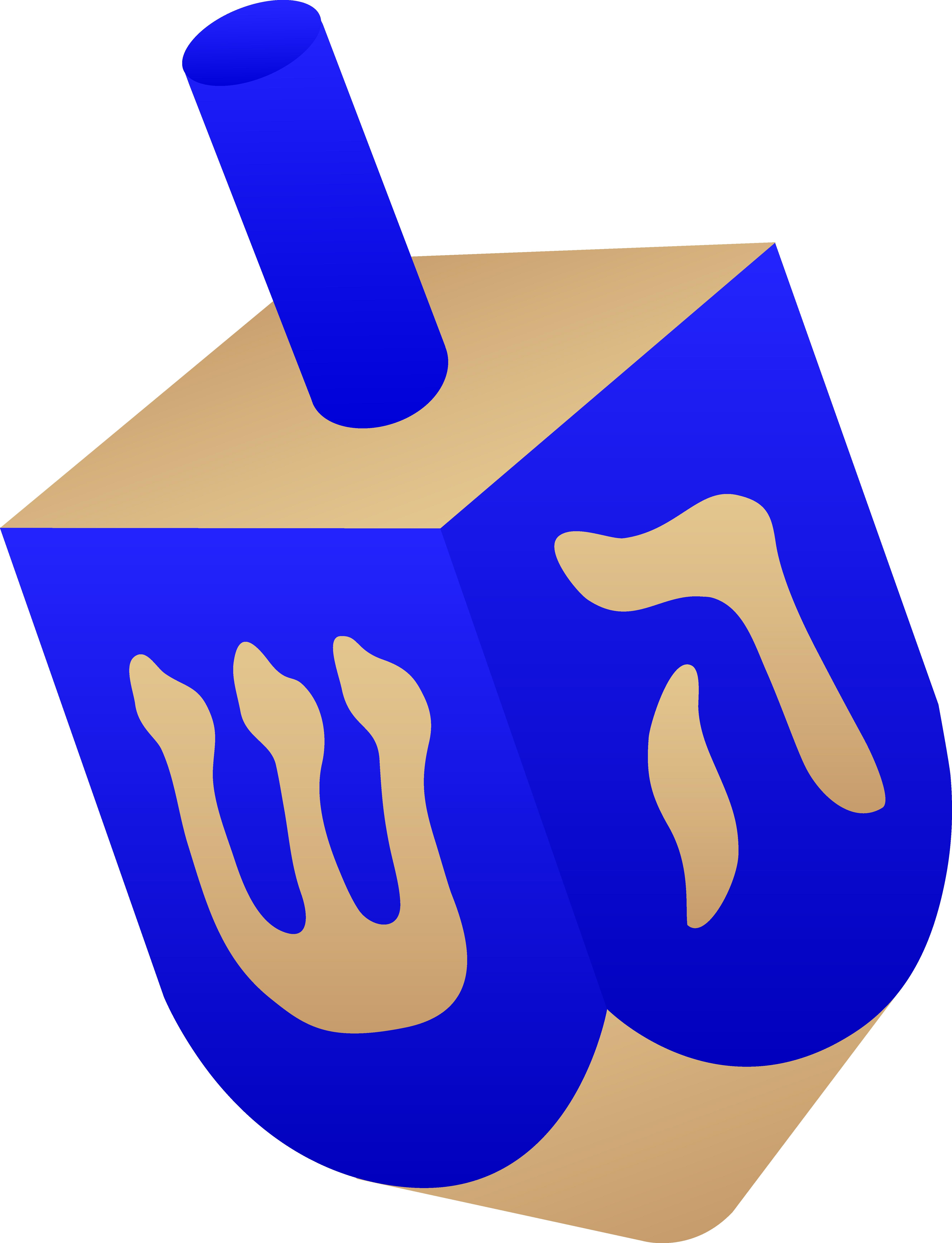 5319x6947 Blue Wooden Dreidel