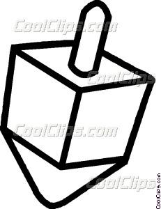 231x300 Dreidel Vector Clip Art