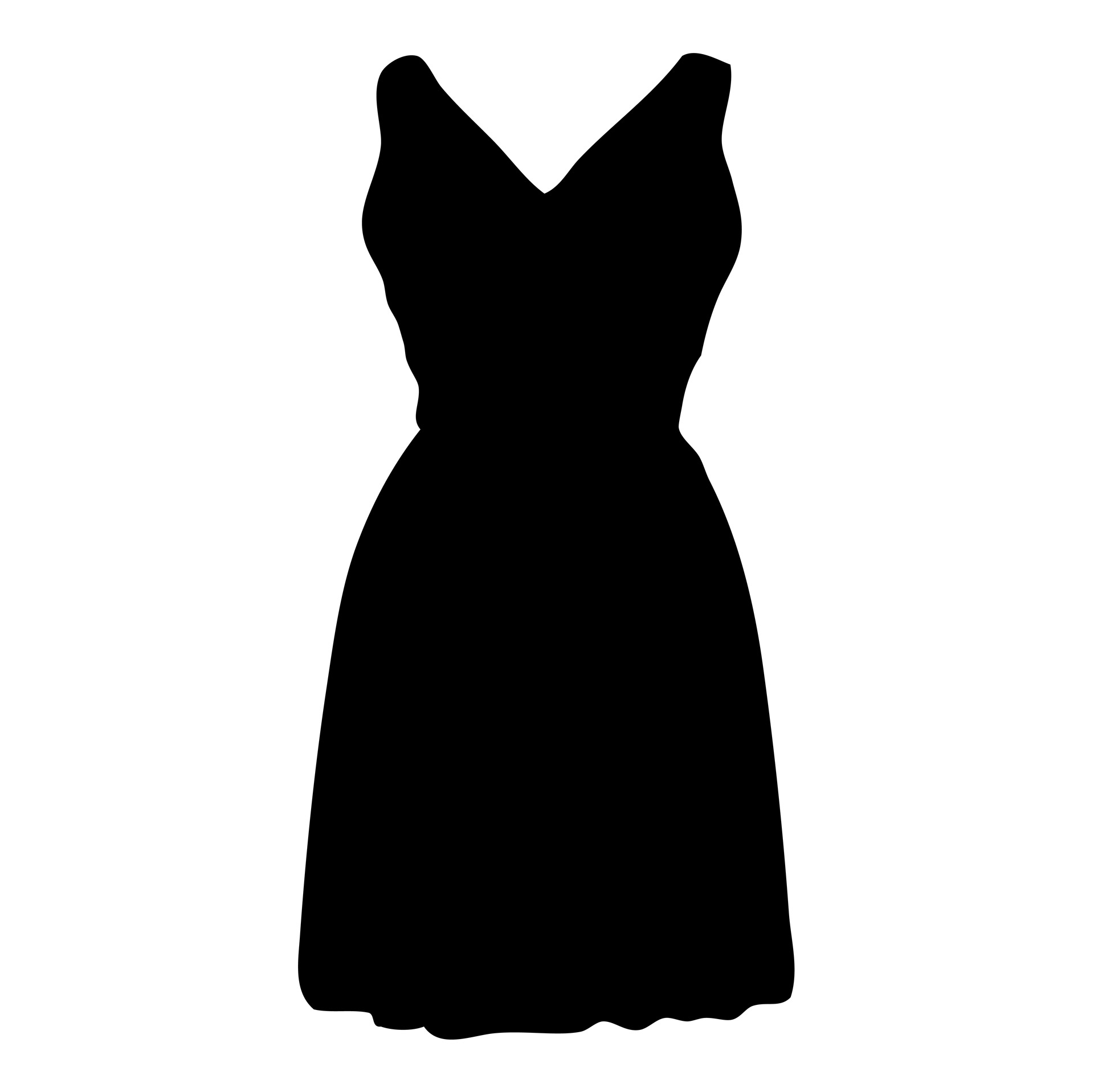 Dress Clipart Black And White