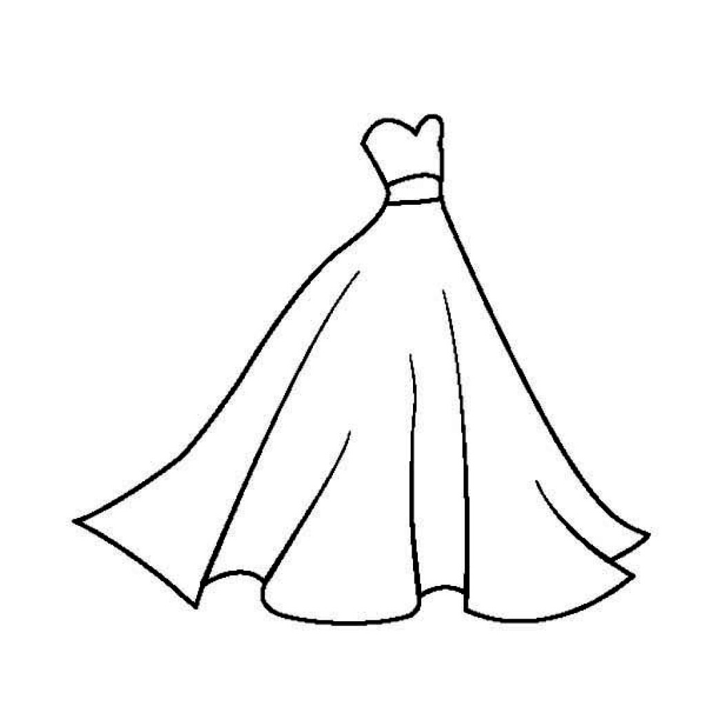 1024x1024 Coloring Pages Of Dresses New Modest Dress Coloring Pages 88 6855
