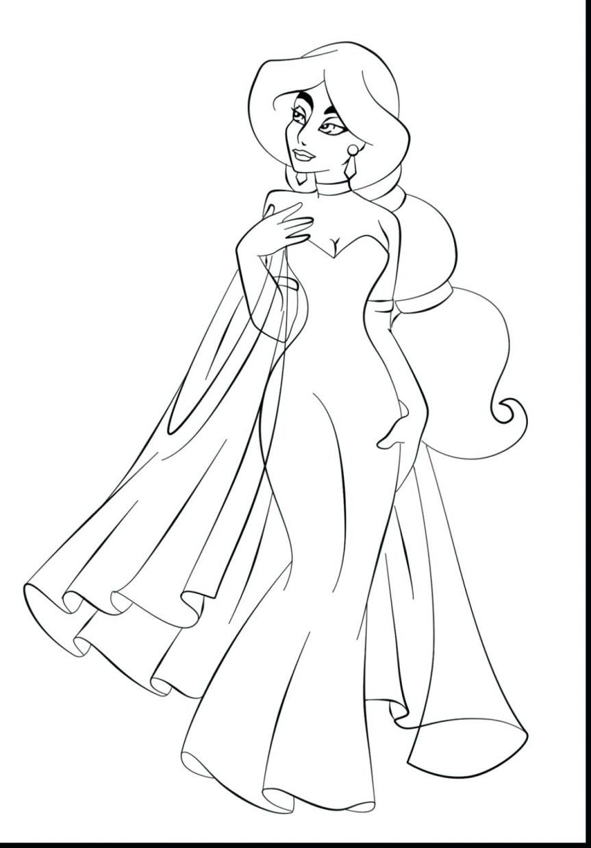 863x1238 Coloring Pages Remarkable Jasmine Coloring Page. Disney Princess