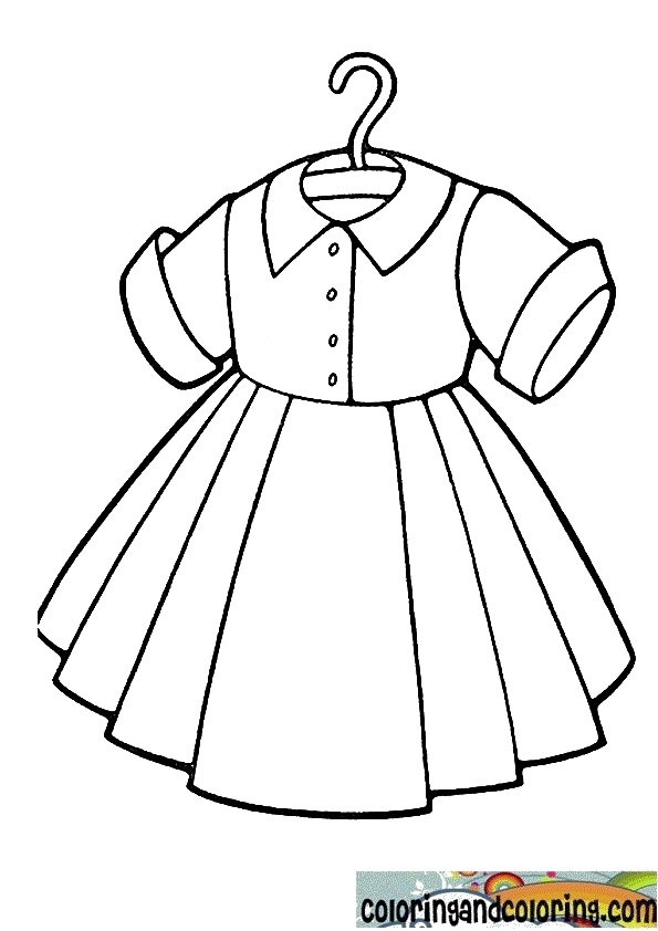 595x842 Dress Coloring Pages