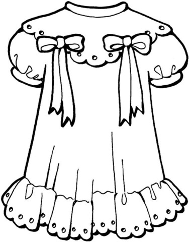 376x480 Girly Dress Coloring Page Free Printable Coloring Pages